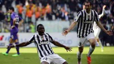 Asamoah convirtió la única diana para el nuevo triunfo de la 'Juve'.