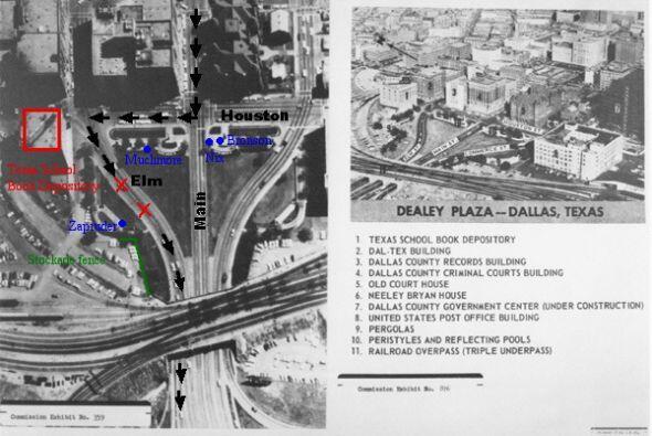 La Plaza Dealey en Dallas, lugar donde fue asesinado el presidente Kennedy.