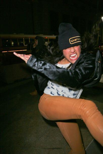 Michelle Rodriguez levantó comentarios de admiración cuando desfiló por...