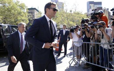 """Arribando a la corte federal en New York por el caso llamado """"deflategate""""."""