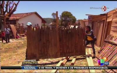 Sorpresivo tornado destrozó poblado en México