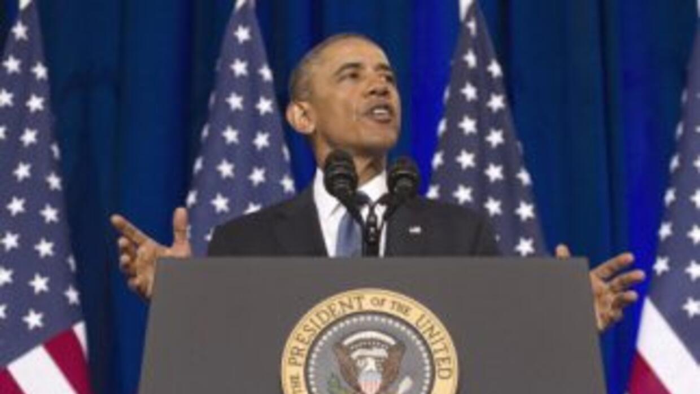 Barack Obama hablando sobre las reformas a la NSA.
