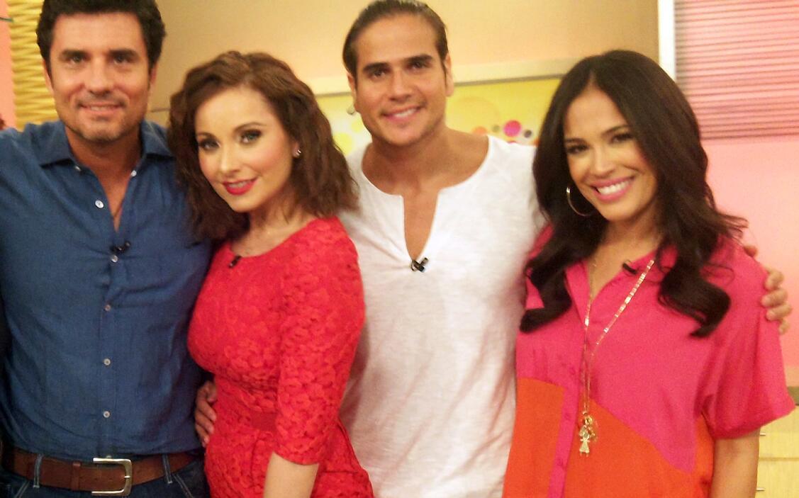 Diego Olivera, Elizabeth Álvarez y Daniel Arenas llegaron a la casita má...