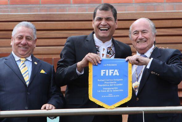 El primer mandatario de Ecuador, Rafael Correa estuvo presente en la ina...