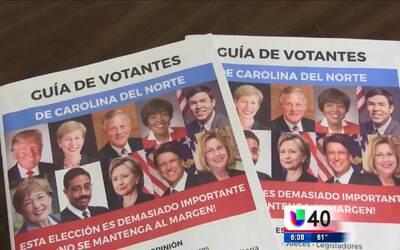 Lanzan la primera guía para votantes hispanos en Carolina del Norte