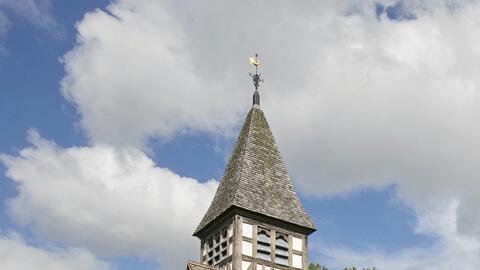 Esta iglesia en Warwickshire, Inglaterra, ahora es una casa, y est&aacut...