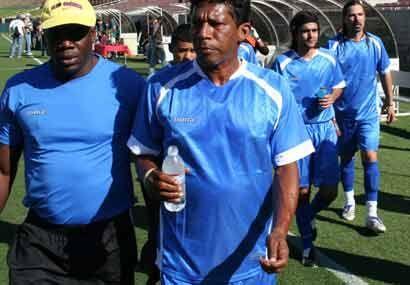 Los jugadores se preparon para la tanda de penaltis donde se definió el...