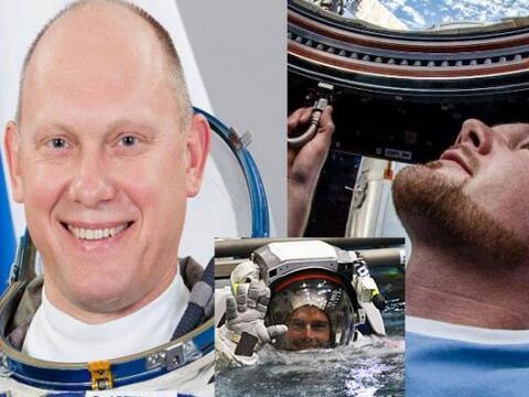 Oleg Artemyev, Alexander Gerst y Reid Wiseman forman parte de la Estaci&...
