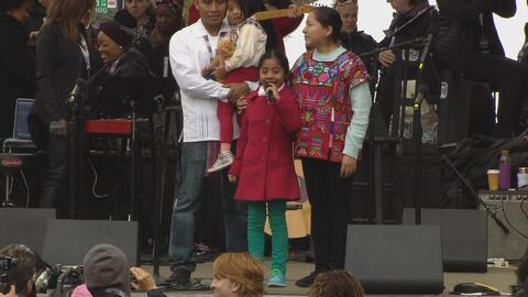 """Sophie Cruz: """"a los niños, por favor, no tengan miedo porque no estamos..."""