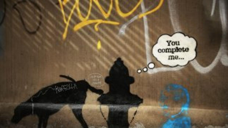 Un mural de Bansky aparecio en Nueva York el pasado octubre de 2013, de...