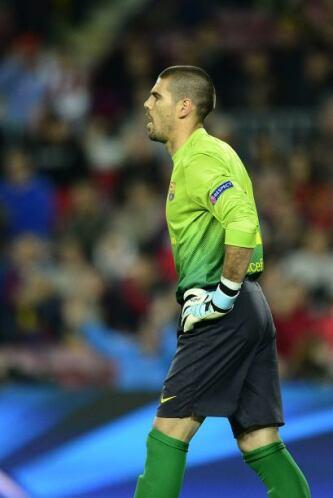Víctor Valdés era el menos culpable de este resultado, o en todo caso er...