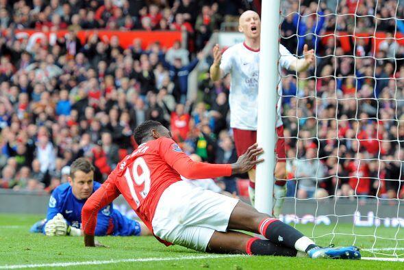 El delantero del United tuvo una oportunidad y no la desaprovechó.