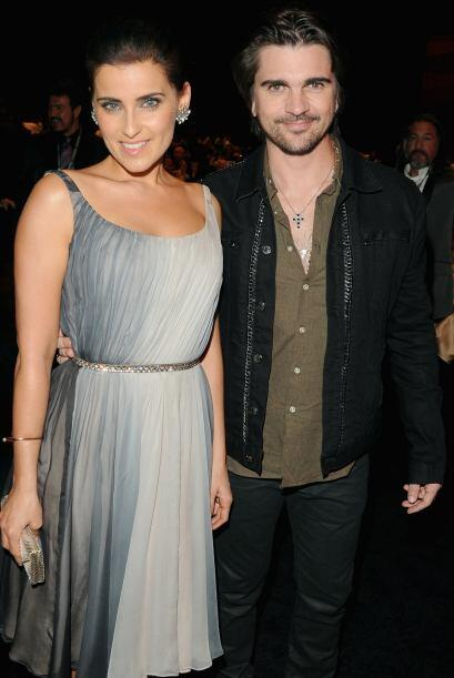 Tras bambalinas la vimos muy sonriente con Juanes, ambos tienen una gran...