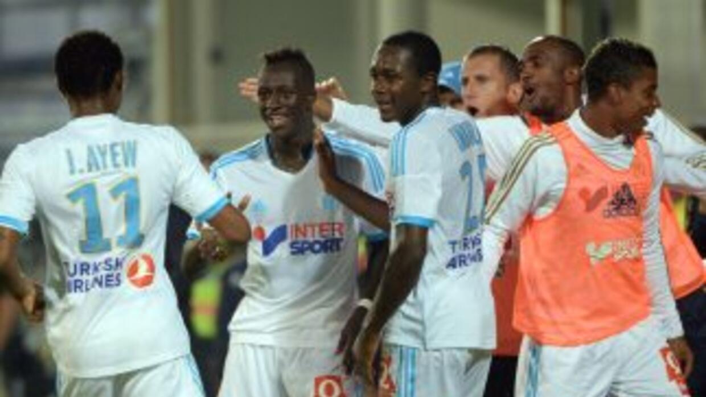 Mendy celebra su gol ant Saint-Etienne en el triunfo de Marsella.