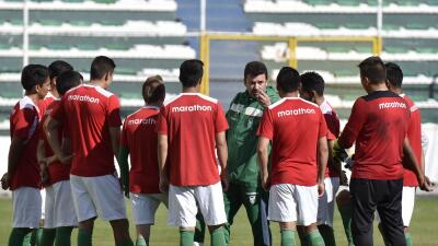 Bolivia se prepara para recibir a Uruguay.