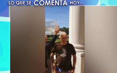 Alberto Ciurana terminó empapado por el Ice Bucket Challenge