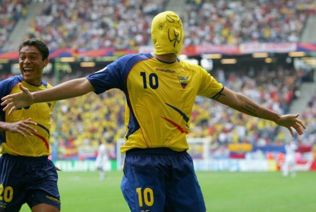 En plena Copa del Mundo de Alemania 2006,  Iván Kaviedes, jugador de la...