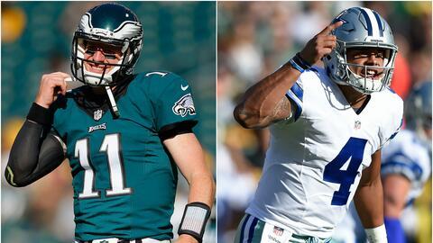Carson Wentz vs. Dak Prescott, primer duelo de quarterbacks novatos en u...
