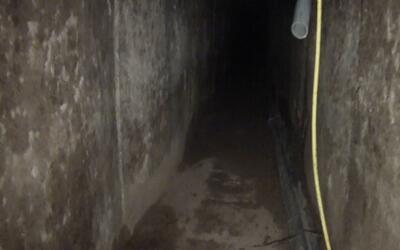 El primer túnel de 'El Chapo' es utilizado por la Patrulla Fronteriza pa...