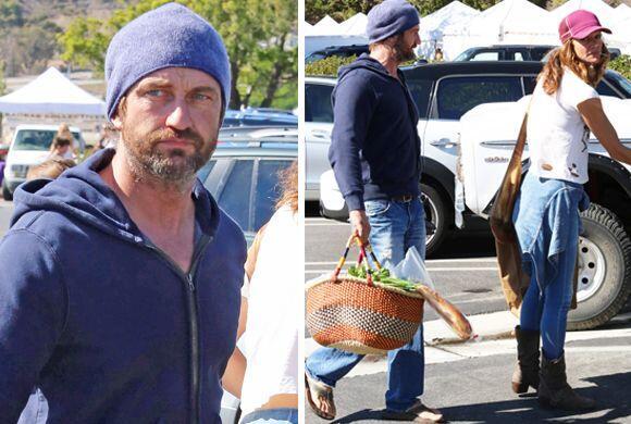 El actor fue fotografiado siendo un novio tierno y mandilón al lado de s...