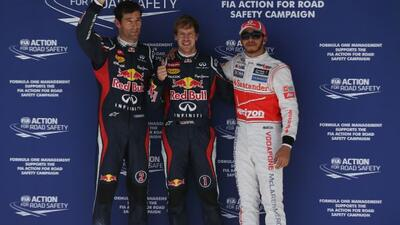 Esta será la carrera número 100 de Vettel, y obtuvo la posición de privi...