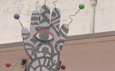 Primera escultura de la serie 'Respeten lo que mis manos han hecho' se i...