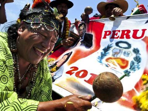 Los chamanes del Perú hicieron su ritual de predicciones para el...