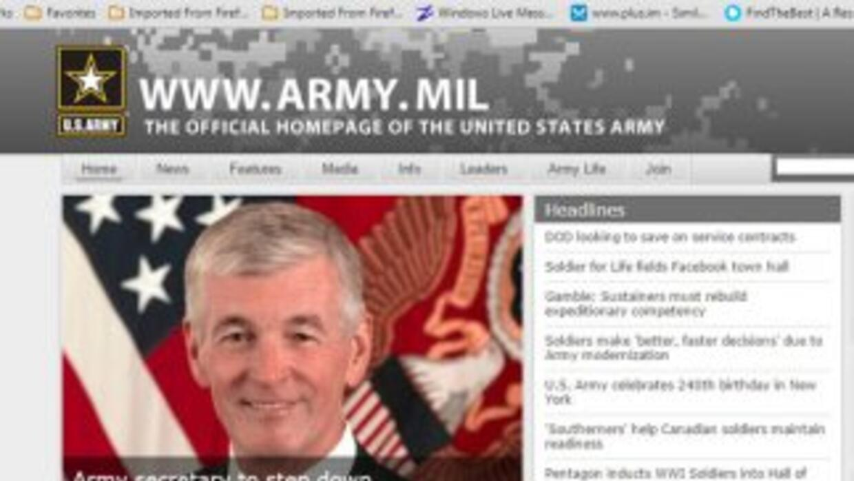 Sitio web Army Mil.