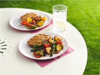 Verduras Asadas con Chipotle: Estas riquísimas verduras con chiles son...