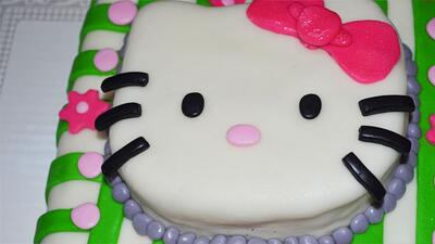 Hello Kitty con fondant de marshmallow