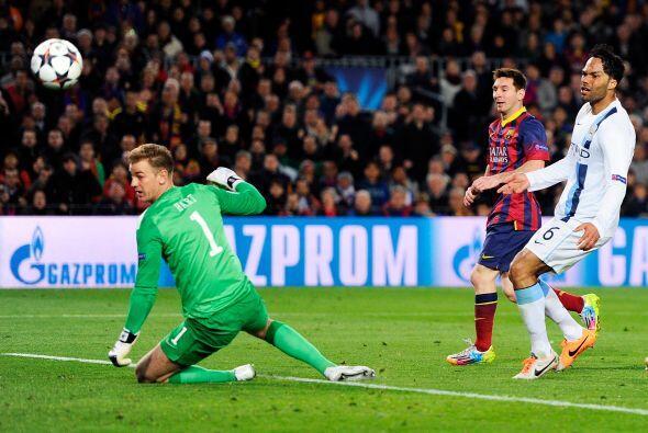 Para el segundo tiempo una jugada fue culminada correctamente por Messi...