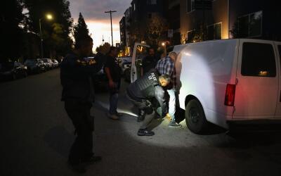 Operación para detener inmigrantes indocumentados en Los Á...