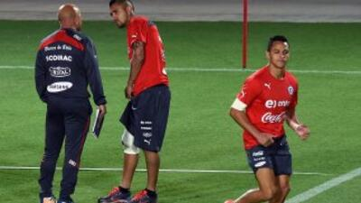 Alexis Sánchez y Arturo Vidal, los símbolos de la selección chilena.