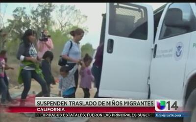 Suspenden traslado de niños inmigrantes sin razón aparente