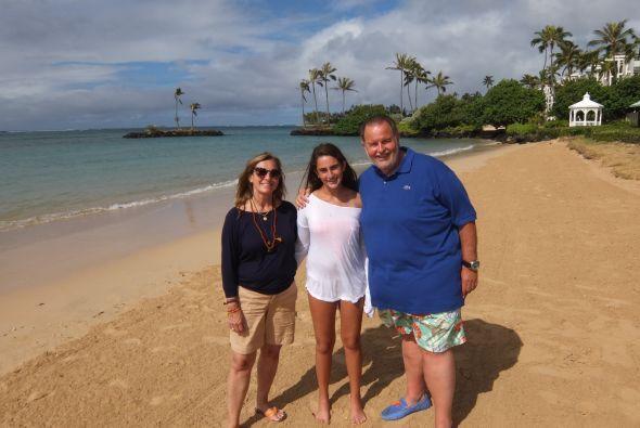 El conductor y su familia disfrutaron de unas vacaciones en las paradisi...