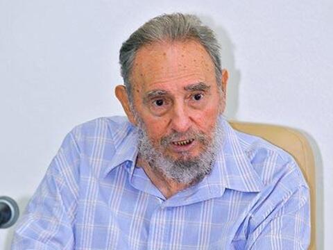 El ex presidente cubano Fidel Castro tuvo su tercera aparición p&...