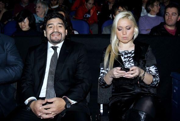 La pareja argentina presenció en el O2 Arena el juego entre Roger Federe...