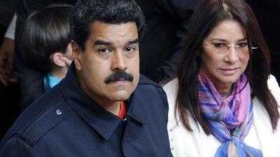 Presiente de Venezuela, Nicolás Maduro y su esposa Cilia Flores