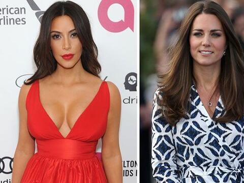 Hace un año Kim Kardashian y Kate Middleton recibieron a la cig&u...