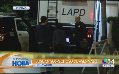 Buscan a sospechoso de un asesinato en Hollywood