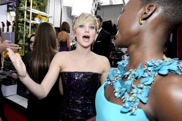 ¡Mira la reacción de Jennifer Lawrence al conocerla!