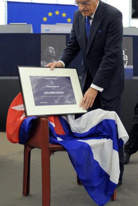La Unión Europea le entregó el premio Sajarov a los derechos humanos a f...