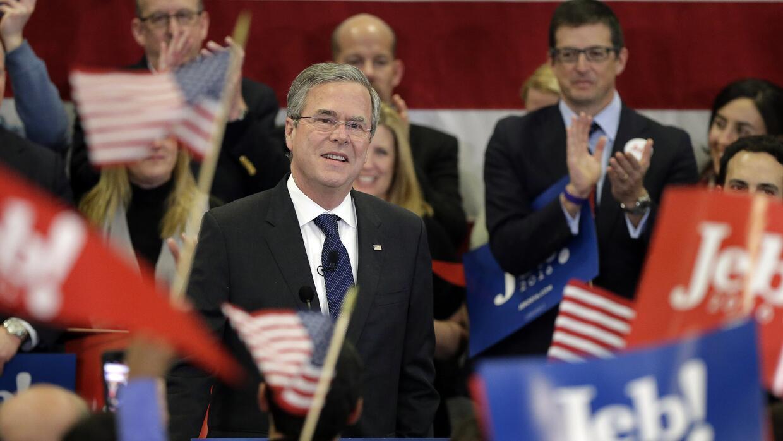 Jeb Bush celebra su resultado en New Hampshire
