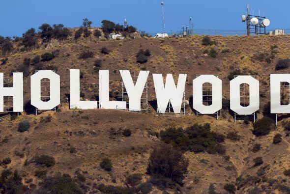 El cartel de Hollywood. El letrero original de la colina de Hollywood se...