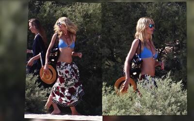 Heidi Klum mostró cuerpazo en Francia