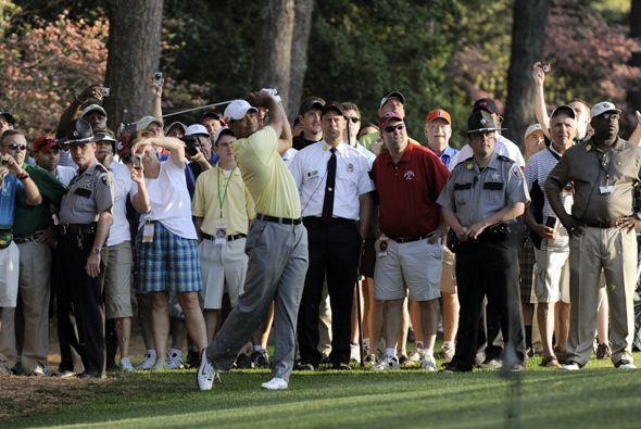 El golfista estadounidense Tiger Woods tuvo una práctica a puerta abiert...