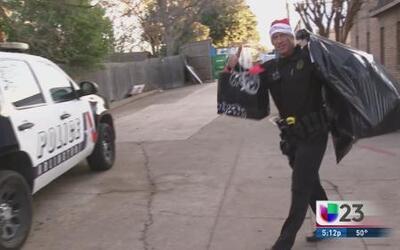 Santa Claus llegó en patrulla a Arlington