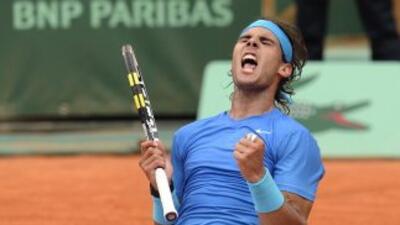 Rafael Nadal celebra su triunfo sobre Murray