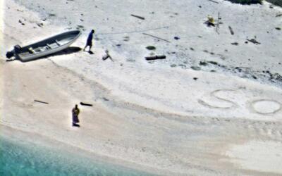 Imagen captada por una aeronave militar de EEUU