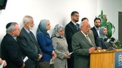 Comunidad islamica de California protesto los ataques de Israel sobre Ga...